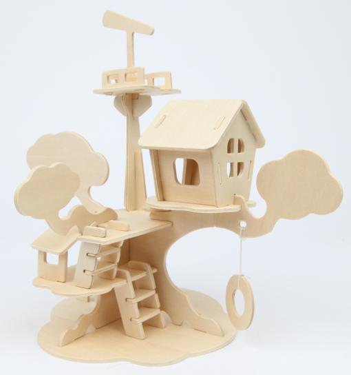 mara by marabu 3d puzzle baumhaus kaufen bei tshii kreativshop. Black Bedroom Furniture Sets. Home Design Ideas