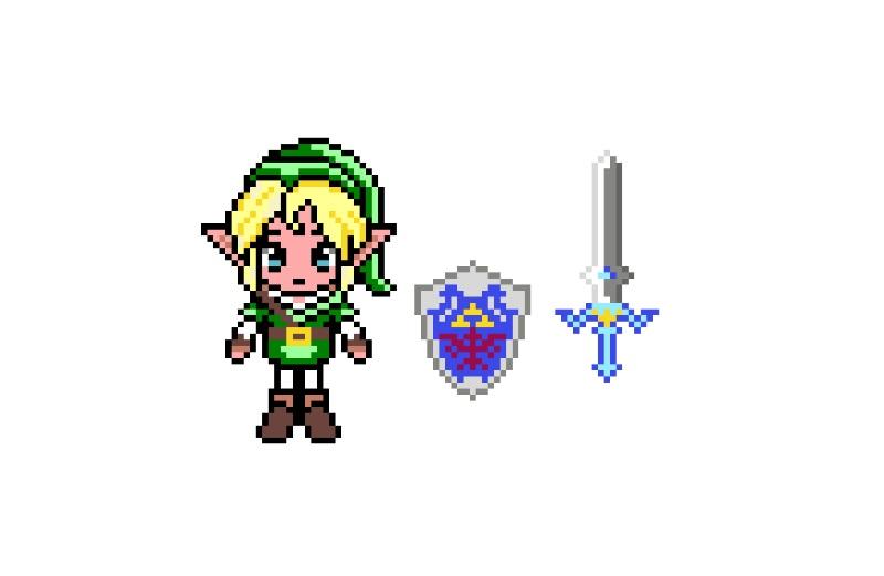 Link Zelda Bugelperlen Hama Perlen Muster 0